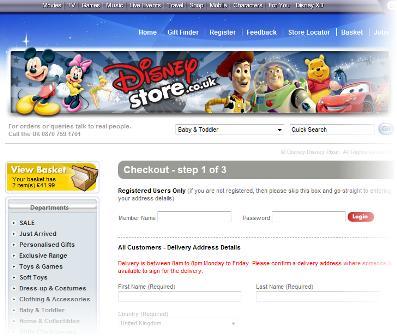Disney checkout