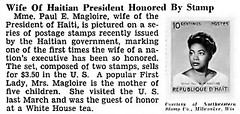 Mme. Paul E. Magloire, Wife of Haitian President, Honored by Stamp - Jet Magazine, May 6, 1954 (vieilles_annonces) Tags: old people usa black history vintage magazine print haiti scans fifties photos african negro 1954 retro ephemera stamp nostalgia photographs american rights 1950s blacks americana colored 50s magazines articles folks oldphotos civilrights newsclipping blackhistory firstlady vintagephotos africans africanamericanhistory negroes postagestamps peopleofcolor vintagephotographs newsclippings vintagemagazine coloredpeople negrohistory republicofhaiti commemorativestamp coloredfolk paulemagliore presidentofhaiti paulmagloire blacknews madamepaulemagloire motheroffivechildren