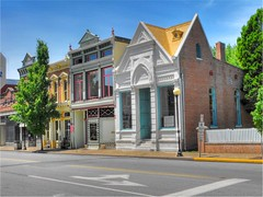 Downtown New Harmony, Indiana (Creativity+ Timothy K Hamilton) Tags: new facade landscape downtown indiana facades harmony quaint newharmonyindiana s1000fd