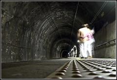 Tunnel of love (Funky64 (www.lucarossato.com)) Tags: love station train couple gallery tunnel powershot vernazza stazione treno amore galleria coppia g9 powershotg9 lucarossato funky64