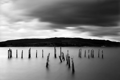 Salen, Isle of Mull (Corica) Tags: uk longexposure greatbritain water landscape scotland britain jetty gb isleofmull poles mull salen soundofmull corica canon1755mm canon400d gruline thebestwaterscapes