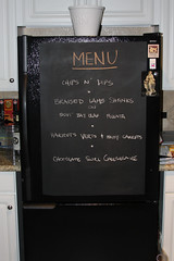 Magnetic Fridge Chalkboard