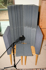 Homemade vocal booth