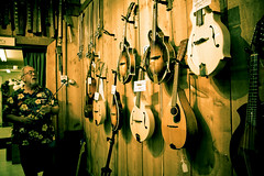 Ken Knows Bows (Celine Chamberlin) Tags: music oregon musical instruments cartwrights stayton cartwrightsmusicrepairshop kencartwright