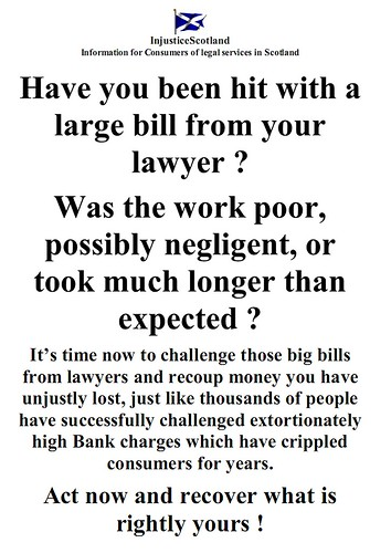 Recover your money from lawyers extortionate charges campaign