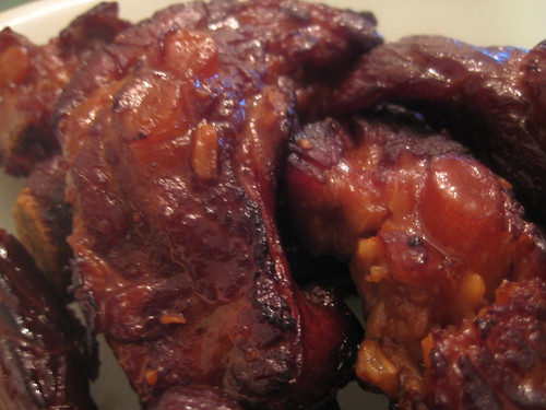 Stewed and Roasted Ribs (close-up)