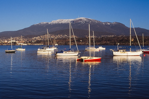 Snow Capped Mt Wellington
