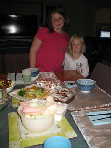 Celebrating the 2008 Olympics with chinese food