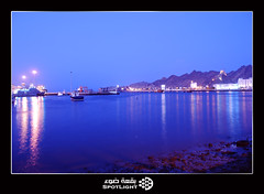(A.Alwosaibie) Tags: blue light sunset sea mountains beach coast photo nikon ship picture spot mount 1855mm oman vr hotornot d60  blueribbonwinner             diamondclassphotographer flickrdiamond