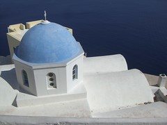Blue church and Aegean