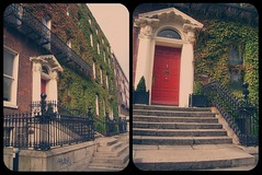 Dublin (miss sundress) Tags: city red dublin green diptych doors steps