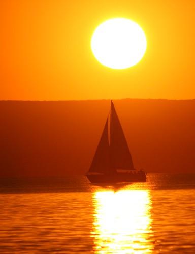 Sunset at Balaton, Hungary