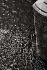 walnut street bridge pier (blishlet) Tags: reflection chattanooga water stone architecture river pier waves tennessee bricks walnutstreetbridge shining masonary