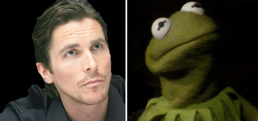 Christian Bale Kermit the Frog