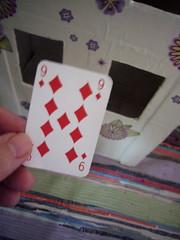My receipt (Caro's Lines) Tags: studio photo creative artists childs playingcard recipt cardboardcreation 9diamonds