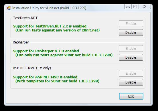 xUnit.net 1.0.3 installer