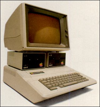 an Apple 2 e