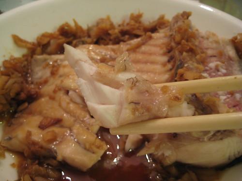 冬菜蒸鯇魚腩