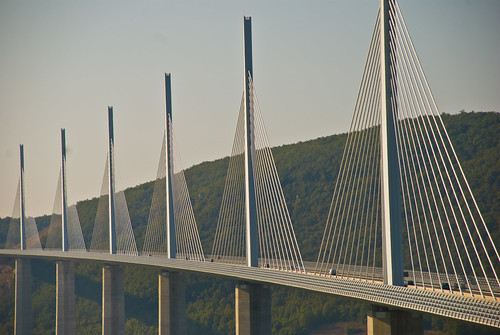 Millau Viaduct sequence 11, Aveyron, France, Sept. 2008