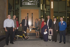 Ready to cut the ribbon to celebrate new city hall. (dfmead) Tags: elcerrito newcityhall elcerritocityhall
