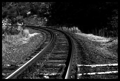 RAILROAD TO NOWHERE (stefanflash) Tags: old railroad blackandwhite art metal track creative tracks structures roads traintrack flikcr stefanflash