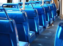 Empty Bus Blues (sssdc1) Tags: morning blue bus washingtondc publictransportation commute dcist