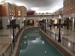 Villagio Cafe over indoor gondola stream, diffent angle (Abu Thaar) Tags: water cafe shoppingmall gondola doha qatar villagio