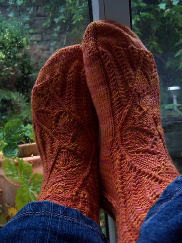 finished mystery sock 1