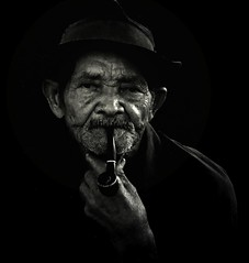 The Man, The Hat, The Pipe, The Fact (Michelle Brea) Tags: old light portrait bw art face photography moments dominican photographer artistic dominicanrepublic dr pipe dominicana fotografia capture feelings artista santodomingo michellebrea photodistorzija4