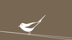 (medejavecu) Tags: brown white bird colors illustration paper design sitting colours graphic grafik braun simple vector vogel farben illu gestaltung visuelle kommunikationsdesign