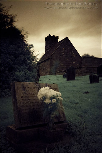 Upleatham Church & Flowers (IR)