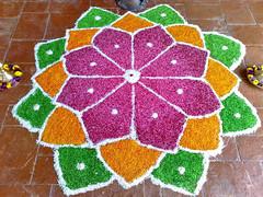 Diwali in Color (HiNoboru) Tags: painting colorful rice lotus malaysia sikhs diwali sandpainting 2008 hinduism festivaloflights sikhism sepang selangor kolam rangoli deepavali divali jains jainism rowoflights indianfestival hindus rangavalli indiannewyear carlzeisstessar2856mm  kla