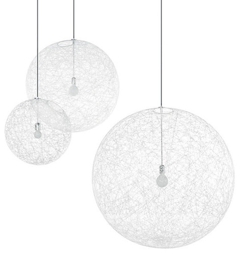 Random lights by Bertjan Pot for Moooi, $610$2,151 (Who wants to attempt a  DIY with an inflatable beach ball, liquid starch, and some cotton string?)
