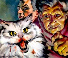 Evil Cat (hagerstenguy) Tags: old man halloween mystery lady cat scary blood evil horror bloody