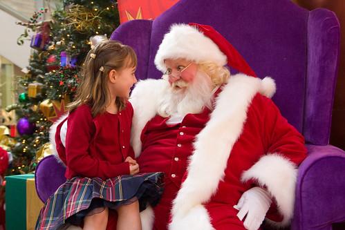 Zoe with Santa