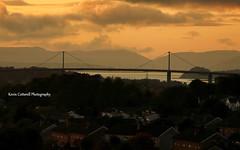 Erskine Bridge (AreKev) Tags: uk bridge sunset sky clouds scotland highpark panasonic clydebank erskine renfrewshire westdunbartonshire dmcfz18 panasonicdmcfz18