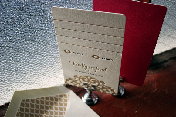 Letterpress reply cards by Smock - Lashar design