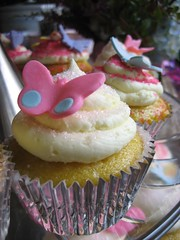 Vegan Lemon Cupcakes with Butterflies (Deirdre Jean) Tags: vegan cupcake firstbirthday vctotw chelseaann