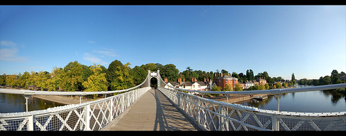 Suspension Bridge Over The River Dee