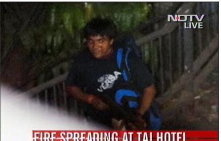 spotted gunman terrorists in NDTV