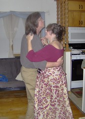 Miriam & Cliff dancing in the kitchen