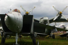 (Leszek Golubinski) Tags: airplane fighter mail russia jet 2006 turboprop coldwar supersonic monino aviationmuseum mikoyangurevich mig25 foxbat beriev be12