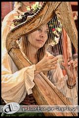 Girl on a Harp