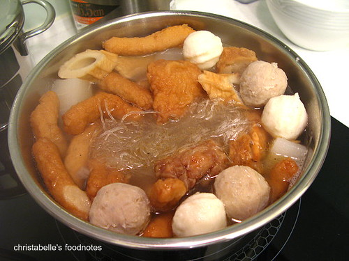 南昌路豆味行甜不辣正在煮