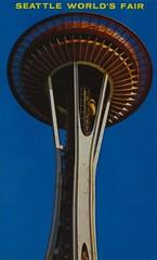 Space Needle - 1962 Seattle World's Fair (Jordan Smith (The Pie Shops)) Tags: seattle vintage washington postcard spaceneedle 1962 seattlecenter worldsfair century21