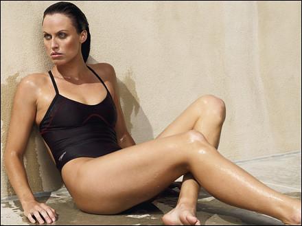 American swimmer Amanda Beard in swimsuit