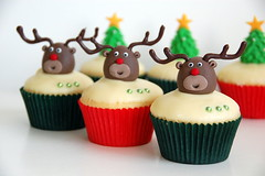 Reindeer Cupcakes (TheLittleCupcakery) Tags: christmas xmas red tree cake reindeer nose cupcakes snowman little rudolph tlc cupcakery xirj klairescupcakes