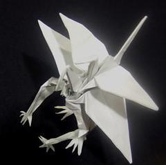 Katsuta - crane variation (o'sorigami) Tags: art paper origami crane convention complex paperfolding folding satoshi satoshikamiya kamiya ousa2008