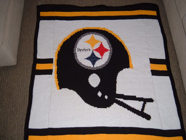 Ravelry: NFL Steelers Afghan Pattern By Patricia Marks