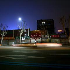 street glow (troutfactory) Tags: street city urban night digital square landscape cityscape traffic streak seoul southkorea jongno ricoh   republicofkorea  grd2